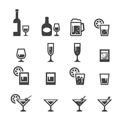 alcohol drink icon vector image vector image