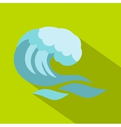 Big wave icon cartoon style vector image