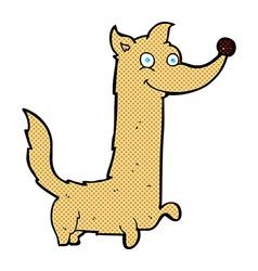 comic cartoon happy dog vector image vector image