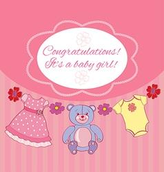 Congratsits baby girl vector
