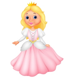 Cute princess cartoon vector image