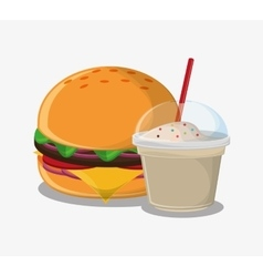 Hamburger fast and carnival food design vector
