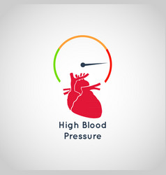 high blood pressure icon design vector image vector image