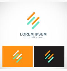 line arrow colored logo vector image