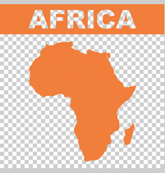 Map of africa flat vector
