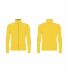 Mens yellow long sleeve t shirt vector