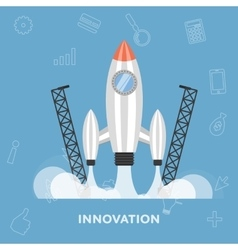 Start rocket launch as a symbol of new ideas vector image vector image