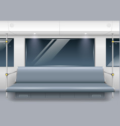 Subway car interior vector