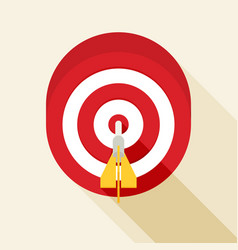 target concept icon flat icon with long shadow vector image vector image