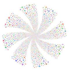 Test tubes fireworks swirl rotation vector