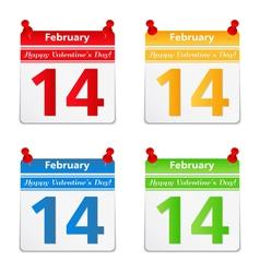 Valentine day congratulation vector image vector image