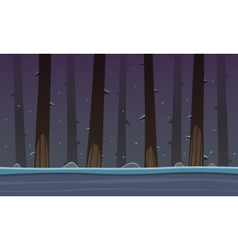 Winter forest game cartoon background vector