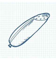 Doodle food element vector image