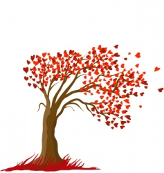 Love tree vector