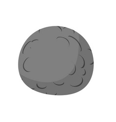 Mercury isolated cartoon style black planet of vector