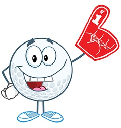 Golf ball with foam finger vector image