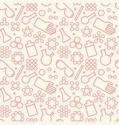 chemistry symbols seamless pattern vector image