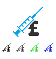 Narcotic pound business flat icon vector
