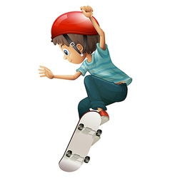 A young gentleman skateboarding vector