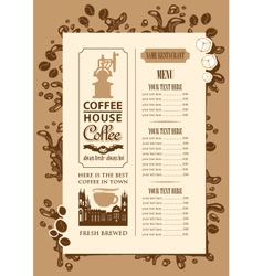 Coffee house menu vector