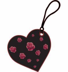 charm heart vector image