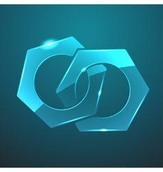 Glass nuts icon vector