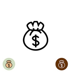 Money bag logo vector