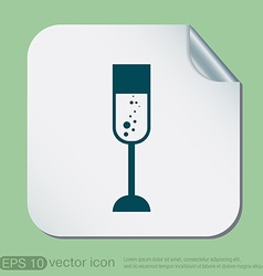 Champagne glass icon vector