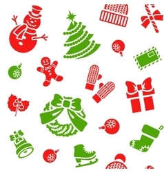 Christmas holiday seamless background pattern vector