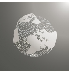 Abstract world map sphere europe vector