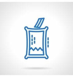 Voting box blue line icon vector