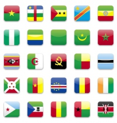 Africa flag vector image vector image