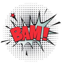 Bam comic speech bubble in pop art style vector