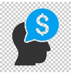 Businessman think icon vector