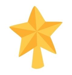 Christmas star tree symbol vector image vector image