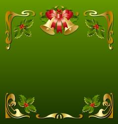 christmas vintage frame vector image vector image