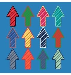 Colored arrows template vector