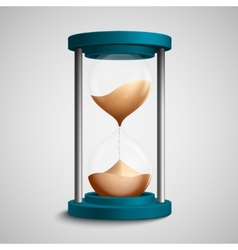 Colored hourglass concept vector