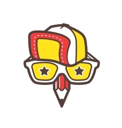Creative designer logo geek avatar icon vector