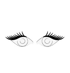 Eyes with lashes icon image vector