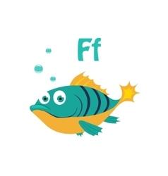 Fish funny alphabet animal vector