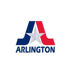 Flag of arlington of texas usa vector