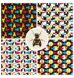 flies vector image vector image