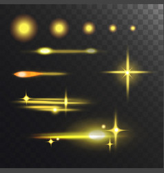 glowing lights effect and stars effect glow vector image