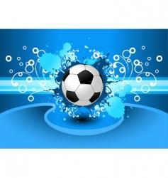 Grunge soccer background vector