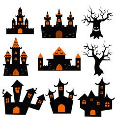 halloween castles symbol vector image
