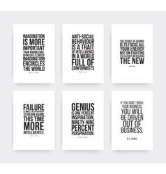 Inspirational motivating quotes set vector image