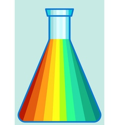Laboratory flask icon vector image vector image
