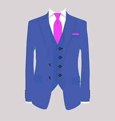 Man suit vector image