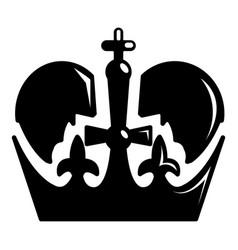monarch crown icon simple black style vector image vector image